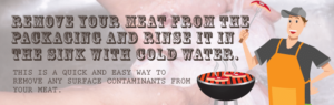 Rinse Meat In Cold Water